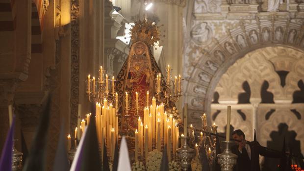 Nuestra Señora de los Dolores, en el interior de la Mezquita-Catedral