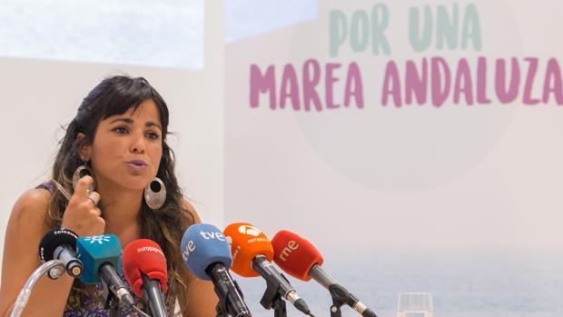 Teresa Rodríguez, presentando su candidatura para la II Asamblea Ciudadana de Podemos Andalucía