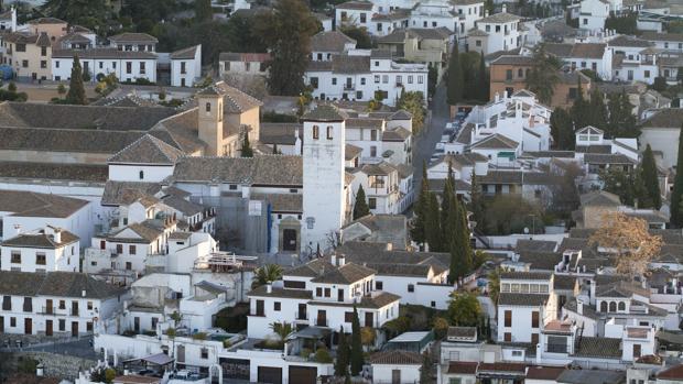 Vista del barrio del Albaicín, en Granada