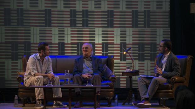 El autor griego, este viernes durante su intervención en Orive