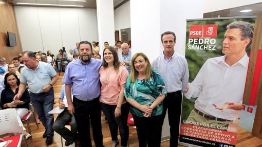 Acto de apoyo a la candidatura de Pedro Sánchez