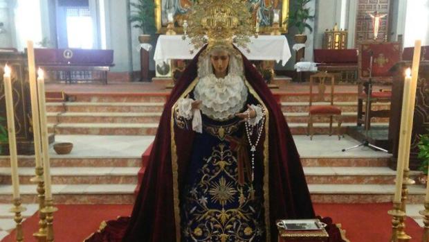 Virgen de la Encarnación ya restaurada