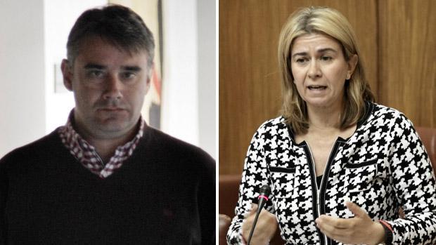 El parlamentario de Podemos Juan Ignacio Moreno Yagüe y la popular Teresa Ruiz-Sillero