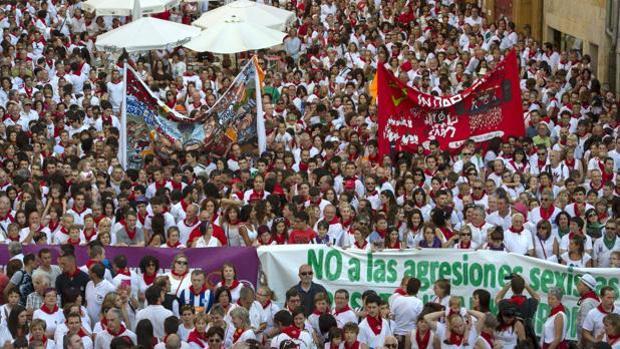 Manifestación en Pamplona contra las violaciones