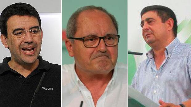 Mario Jiménez, Juan Cornejo y Francisco Reyes