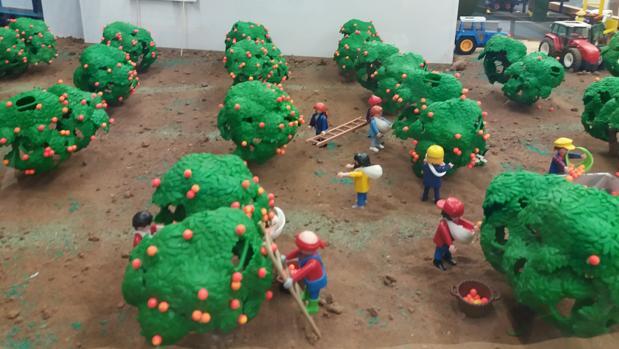 Recreación de la recogida de la naranja en Palma del Río