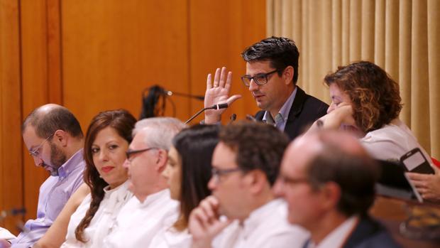 Los ediles García y Doblas, en el Pleno