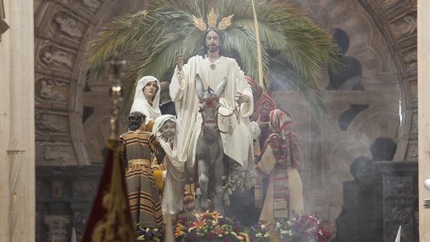 La hermandad de la Borriquita, el pasado Domingo de Ramos