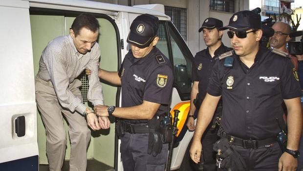 Bretón, durante su traslado a la prisión de Huelva para asistir a un juicio alllí