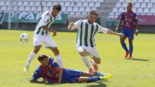El Córdoba B, en el partido ante el Extremadura