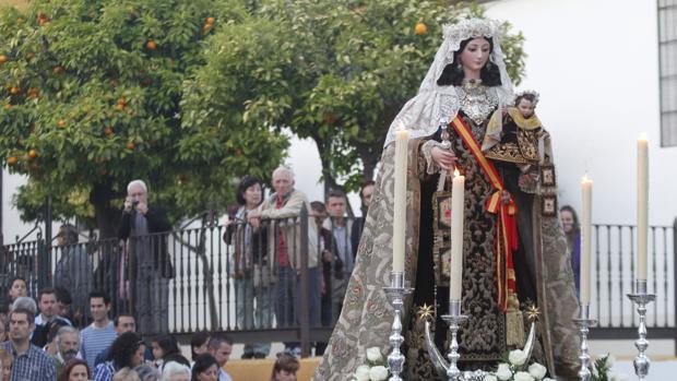 Salida de la Virgen del Carmen hacia Santa Marina