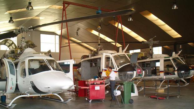 Hangar para helicópteros del grupo Faasa