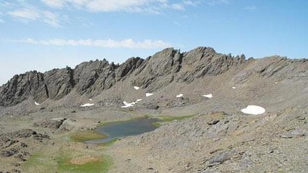 Aspecto de Sierra Nevada sin nieve