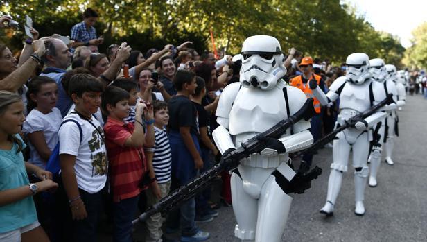 Soldados imperiales en un desfile