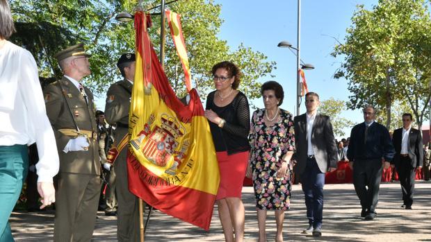 Un momento de la jura de bandera de esta mañana en Pozoblanco