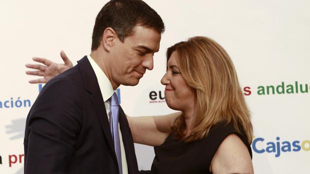 Susana Dïaz y Pedro Sánchez
