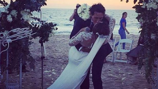 Paz Padilla, en un momento de su boda
