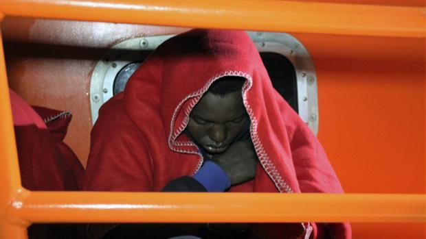 Uno de los inmigrantes llegados esta semana a Motril