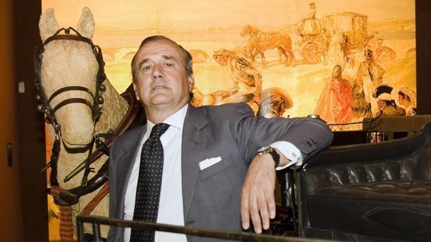 Antonio Ortiz Rufino en el Museo de Carruajes de Sevilla