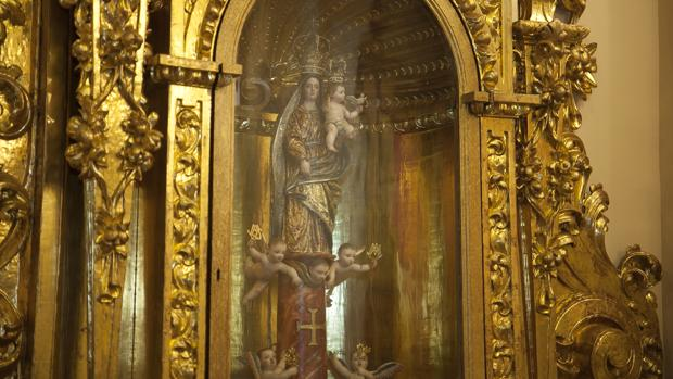 Virgen del Pilar que se venera en la capilla de Jesús Nazareno