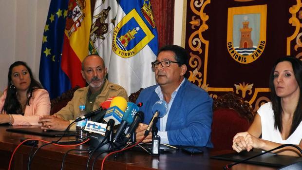 El exalcalde Antonio Peña, el pasado 10 de octubre cuando presentó su dimisión