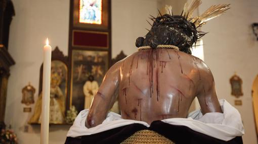 Espalda del Señor de la Humildad y Paciencia