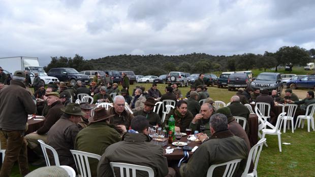 Participantes en una montería
