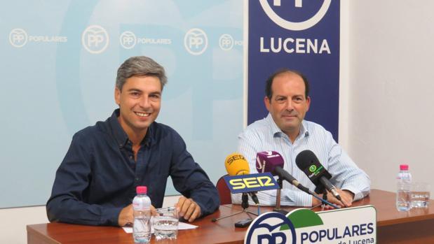 Andrés Lorite y Paco Huertas ayer en Lucena