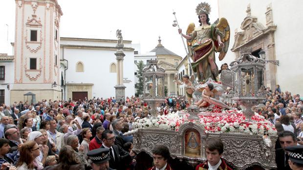 San Rafael, durante su última salida procesional