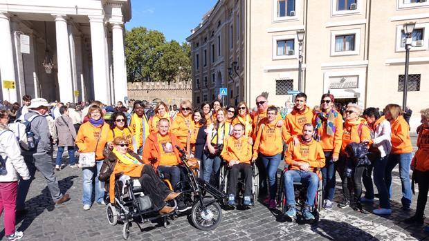 Algunos de los miembros del grupo que viajó a Roma