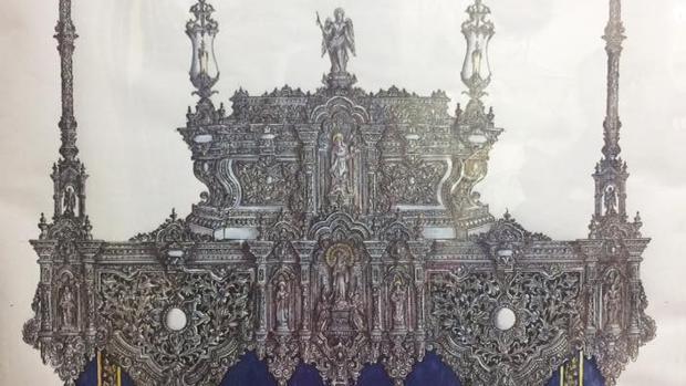Nuevo diseño del paso de palio de la Virgen de la Estrella