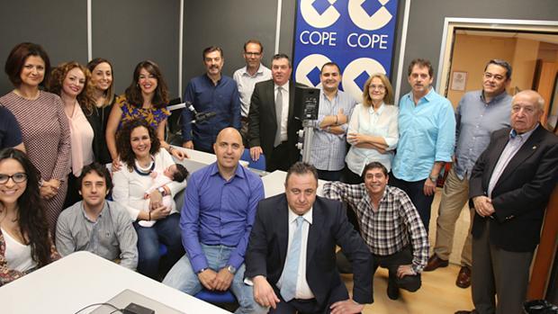 Equipo actual de Cope en Málaga encabezado por Adolfo Arjona
