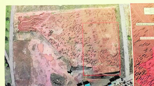 La parcela en la que se instalará el inmueble, recuadrada en rojo