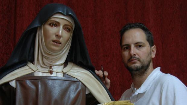 Nueva imagen de Santa Teresa de Jesús, de José Antonio Cabello