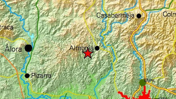 Registrado un seísmo de magnitud 3,5 con epicentro en una localidad malagueña