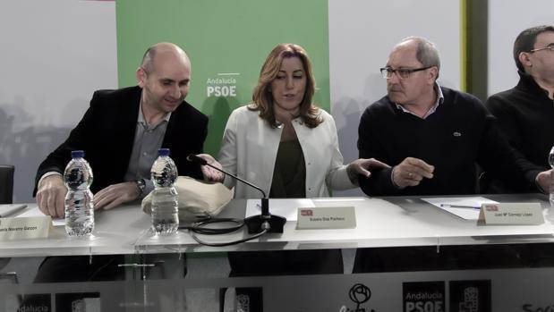 Conejo, Díaz y Cornejo, en una imagen de archivo