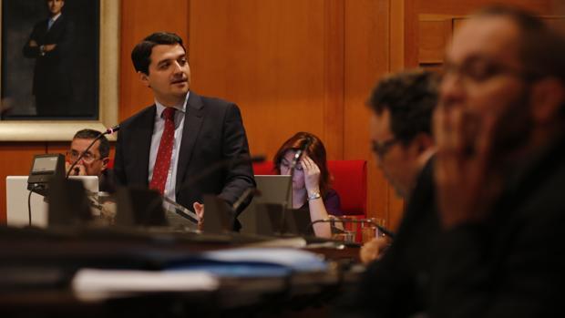 Bellido, durante su internvención el Debate del Estado de la Ciudad