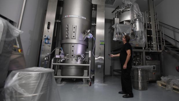 Interior de la planta de Laboratorios Pérez Giménez