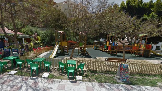 El parque infantil donde ocurrió el atropello