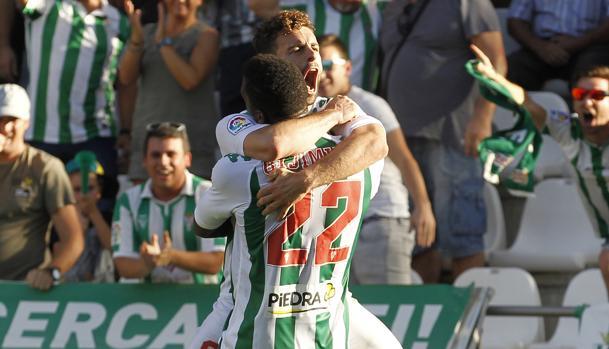 Rodri celebra su gol ante el Nastic
