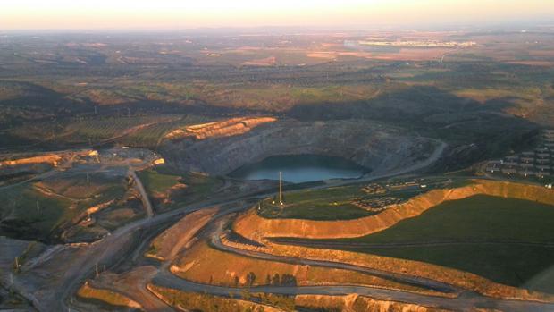 Vista aérea de la mina de Aznalcóllar