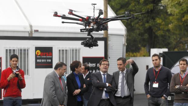 Un dron en una reciente edición de Fimart en Córdoba