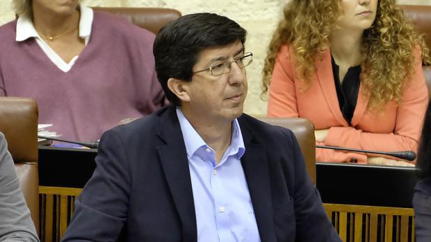 Juan Marín, en el Parlamento
