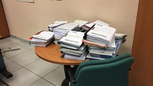 Documentos en la GMU esperando ser tramitados