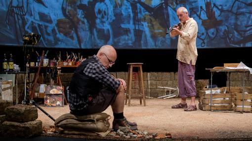 Una escena del montaje teatral de Antonio Álamo