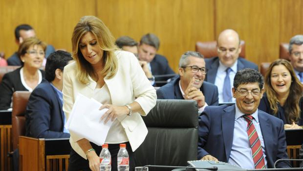 Susana Díaz durante el Debate sobre el Estado de la Comunidad celebrado en septiembre de 2014