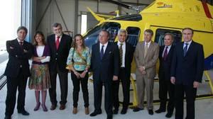 Cargos de la Junta con responsables de Faasa en su sede de Palma del Río