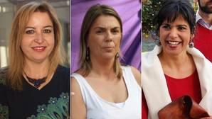 Tres mujeres pujan por liderar Podemos en Andalucía