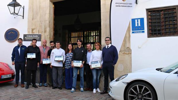 Los cinco participantes cordobese en el concurso Porsche Panamera Gourmet