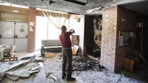 La residencia del Parque Figueroa, después de un incendio